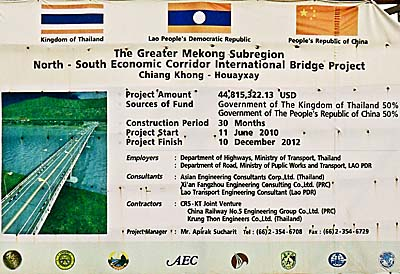 Asienreisender - Bridge Announcement Sign