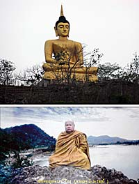 Abbot and Buddha Image by Asienreisender