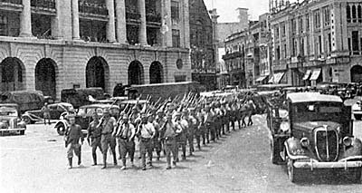 Japanese Troops in Singapore 1942