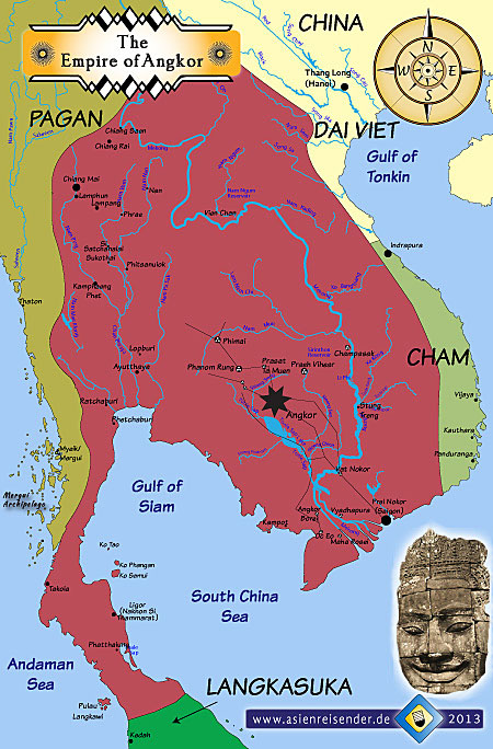 Empire of Angkor, hydraulic city, devaraja, godking, Khmer, Zhou ...