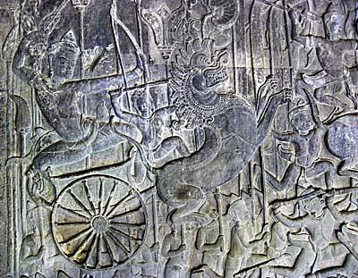 Engravement in Angkor Wat by Asienreisender