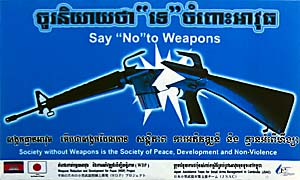 Disarmament in Cambodia by Asienreisender