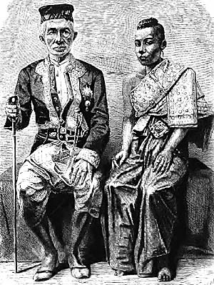 King Mongkut of Siam and his Queen
