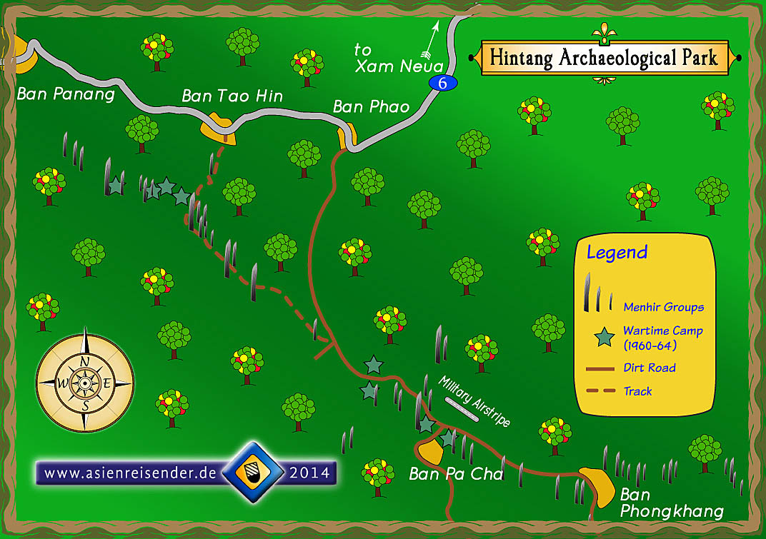 Map Archaeological Park Hintang by Asienreisender