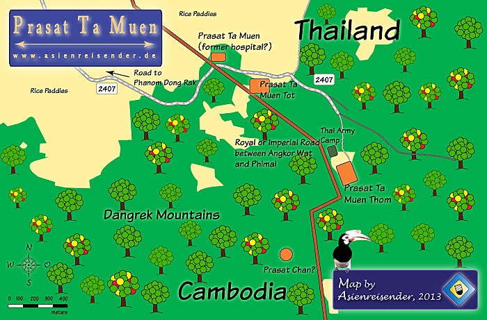 Map of Prasat Ta Muen by Asienreisender