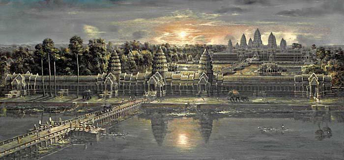 Cambodia Angkor Wat Drawing Angkor Wat Drawing