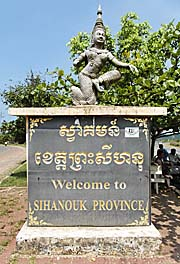 Welcome to Sihanoukville Monument by Asienreisender