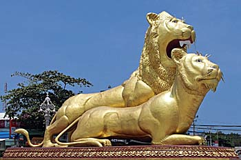 Image result for golden lions monument sihanoukville