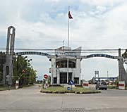 The Entrance Gate of Sihanoukville's Commercial Port by Asienreisender