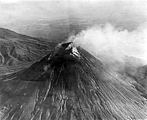 An Aerial Image of Merapi's 1930 Outbreak