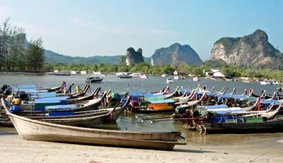 'Fishing Boats at Ao Nang Beach in Krabi' by Asienreisender