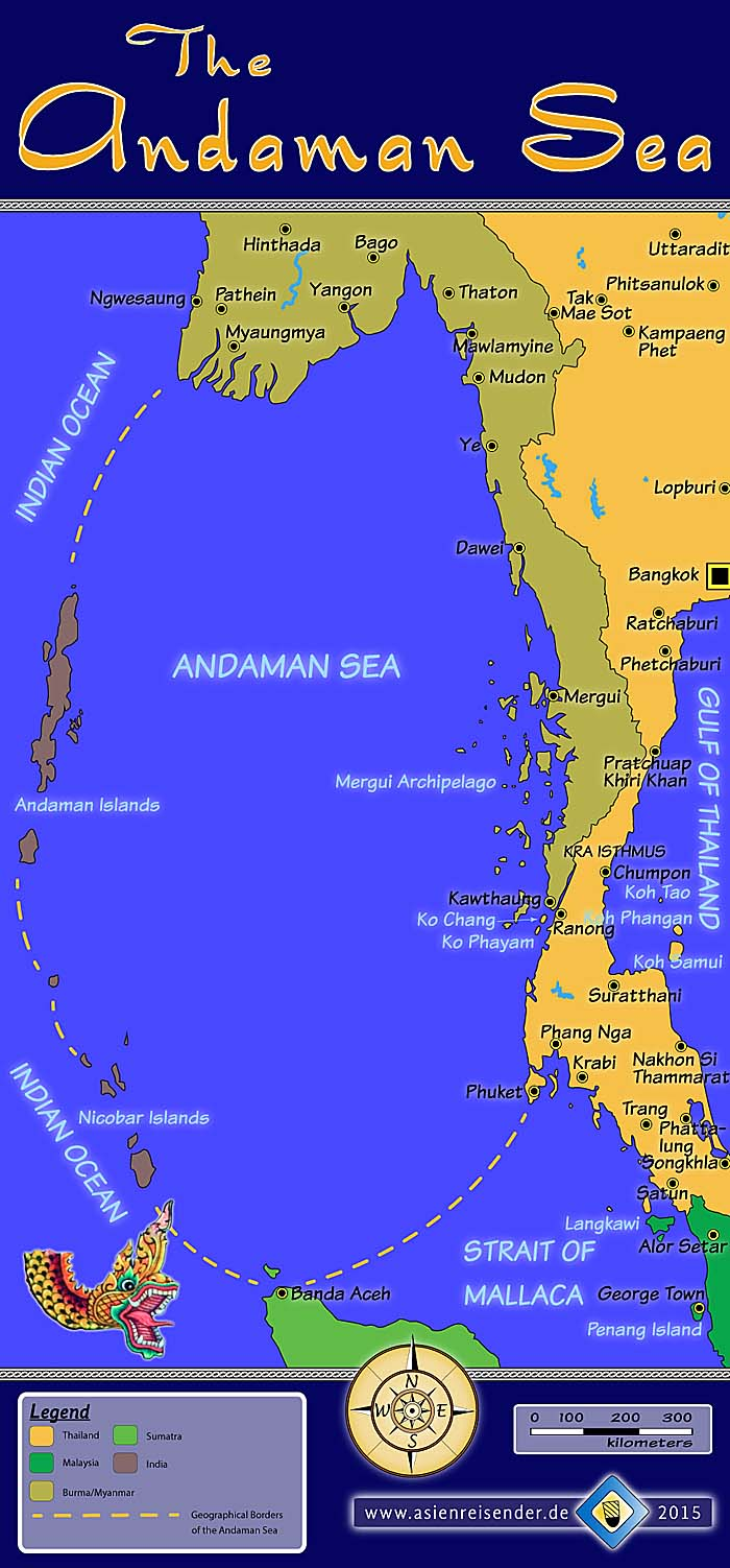 'Map of the Andaman Sea' by Asienreisender
