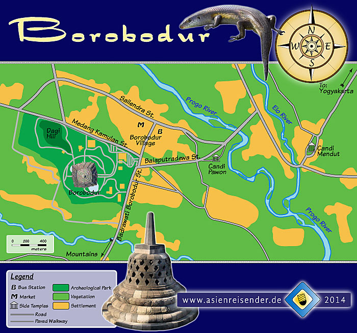 'Map of Borobodur' by Asienreisender
