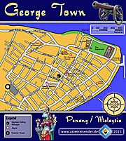 'Thumbnail Map of George Town' by Asienreisender