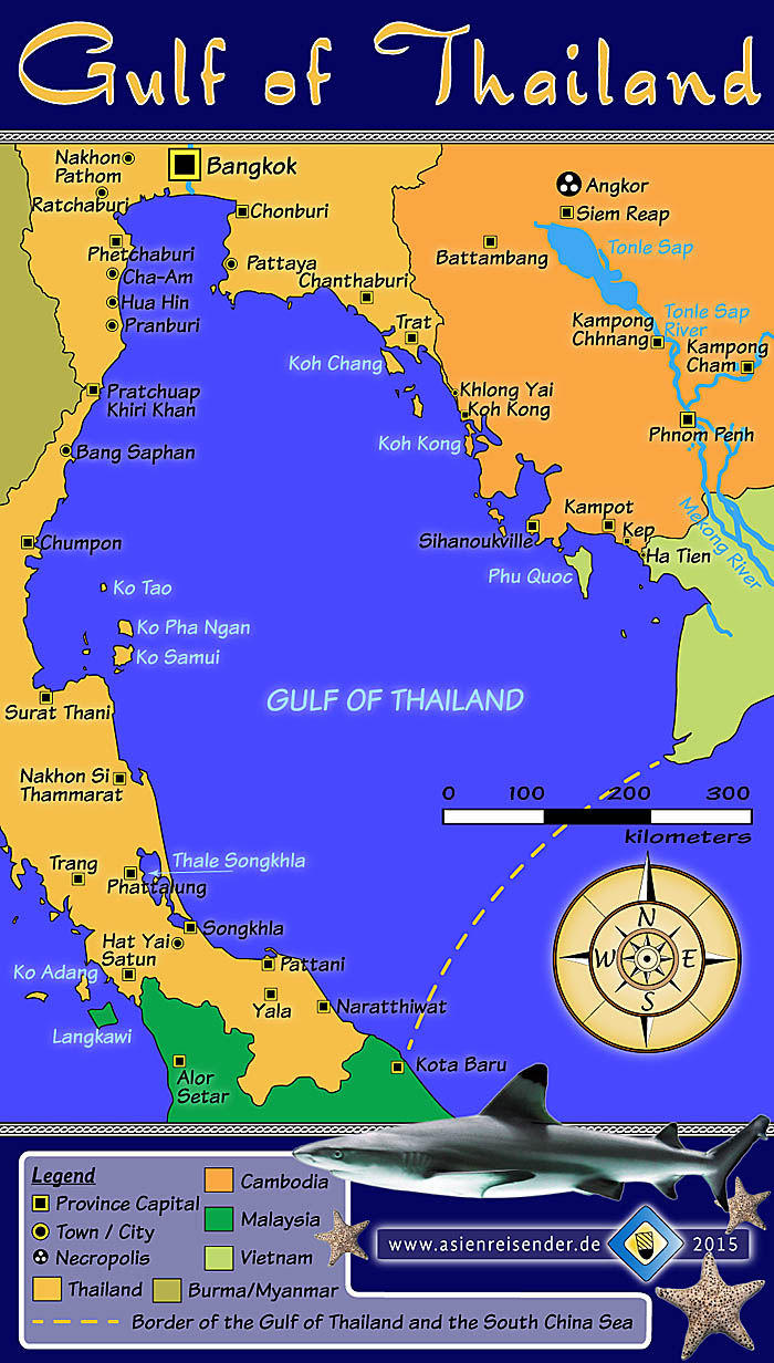 The gulf of thailand by asienreisender map of the gulf of thailand by asienreisender publicscrutiny Images