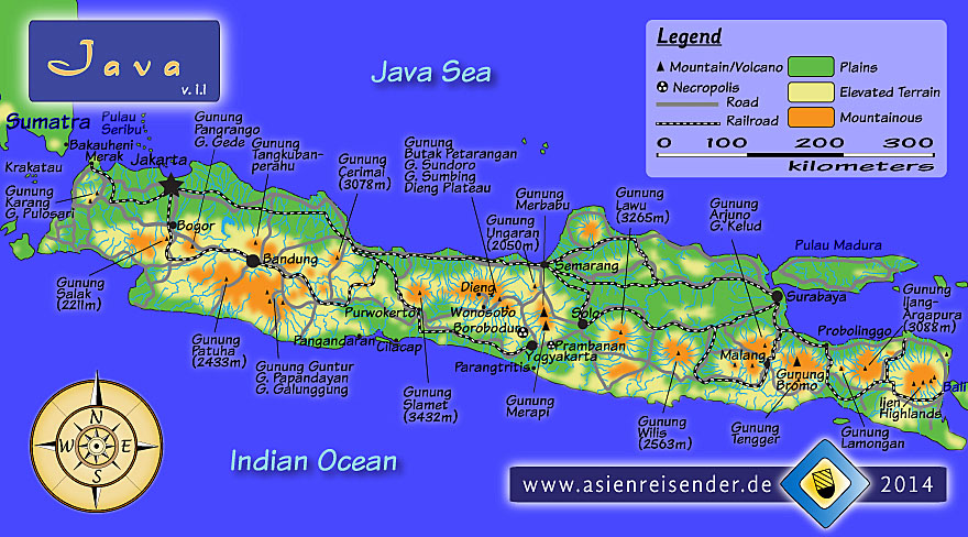 Interactive Map of Java by Asienreisender
