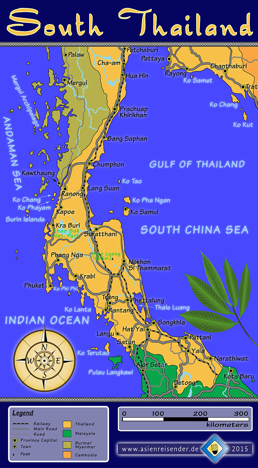 'Interactive Map of South Thailand' by Asienreisender