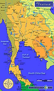 Map of Thailand by Asienreisender