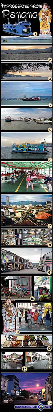 Thumbnail Photocomposition 'Impressions from George Town / Penang' by Asienreisender