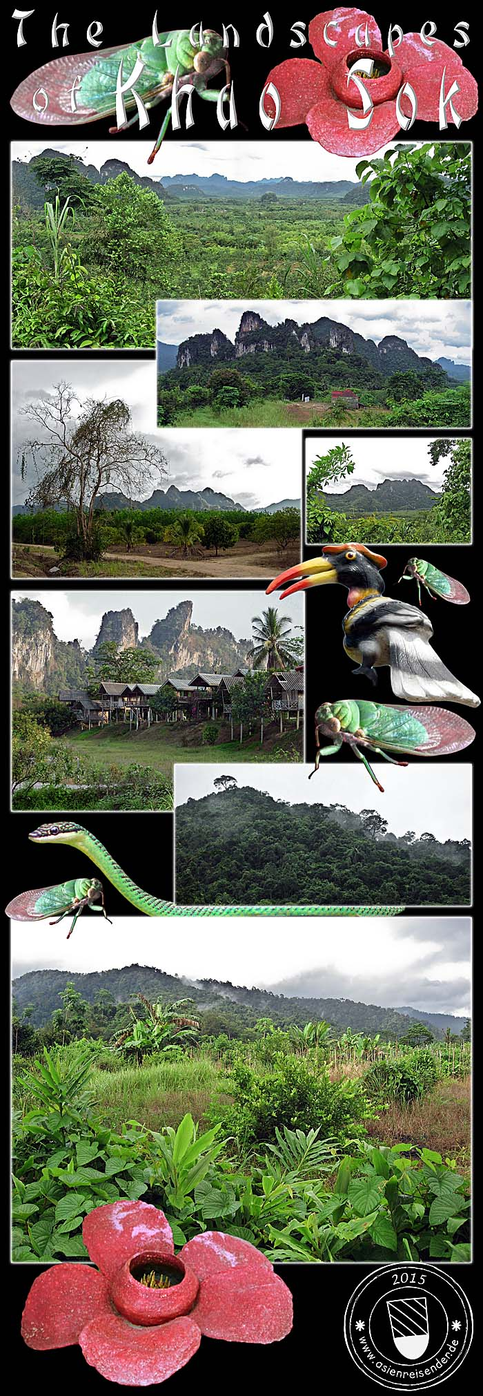 Photocomposition 'Landscapes of Khao Sok' by Asienreisender