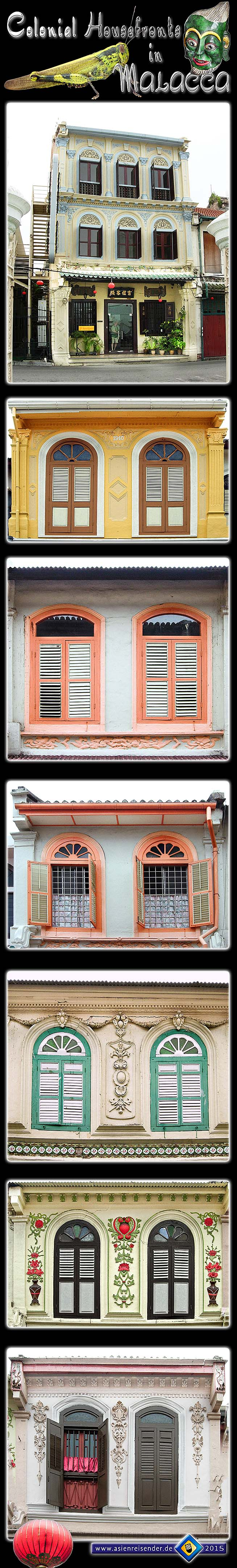 Photocomposition 'Colonial Shophouse Windows in Malacca' by Asienreisender