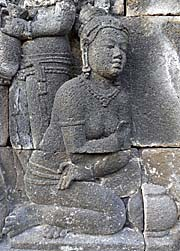 A Woman with a Jar | Borobodur Relief  by Asienreisender