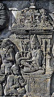 A Deity on one of the fescos of Borobodur by Asienreisender