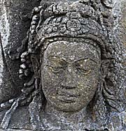 A Face Relief in Borobodur by Asienreisender