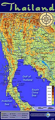 'Topographic Map of Thailand' by Asienreisender