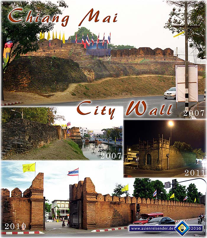 'The City Wall of Chiang Mai' by Asienreisender