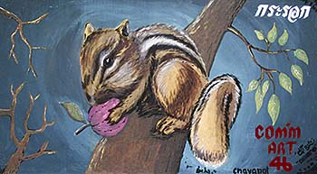 'A Squirrel Wallpainting at Dusit Zoo' by Asienreisender