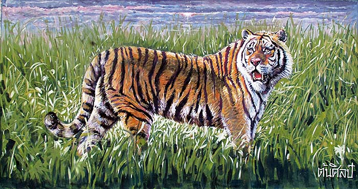 'Painting of a Tiger at Dusit Zoo | Bangkok' by Asienreisender