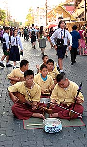 'An Orchestra of Thai Boys in the Old City of Chiang Mai' by Asienreisender
