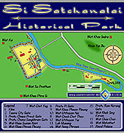 Thumbnail 'Map of Si Satchanalai Historical Park' by Asienreisender