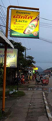 'Beerlao Advertisment in Vang Vieng' by Asienreisender