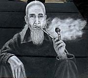 'An Opium Smoking Old Man in the Greater Golden Triangle' by Asienreisender